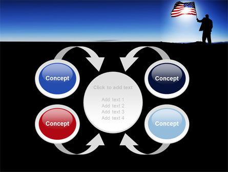 Flag of the USA PowerPoint Template Slide 6