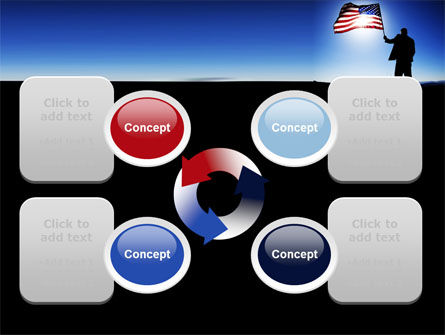 Flag of the USA PowerPoint Template Slide 9
