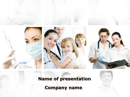 Medical: Modello PowerPoint - Centro di salute dei bambini #09789
