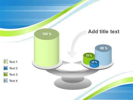 Green Wave Dissecans Blue-White Image Diagonal PowerPoint Template Slide 10