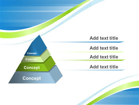 Green Wave Dissecans Blue-White Image Diagonal PowerPoint Template Slide 12