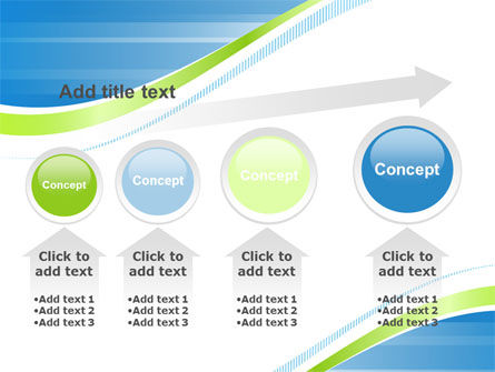 Green Wave Dissecans Blue-White Image Diagonal PowerPoint Template Slide 13