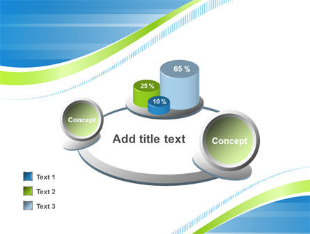 Green Wave Dissecans Blue-White Image Diagonal PowerPoint Template Slide 16