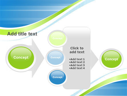 Green Wave Dissecans Blue-White Image Diagonal PowerPoint Template Slide 17