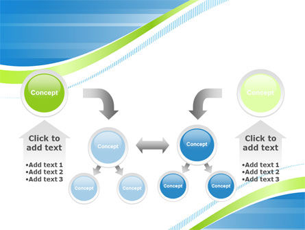 Green Wave Dissecans Blue-White Image Diagonal PowerPoint Template Slide 19