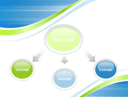 Green Wave Dissecans Blue-White Image Diagonal PowerPoint Template Slide 4
