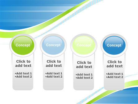 Green Wave Dissecans Blue-White Image Diagonal PowerPoint Template Slide 5