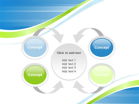 Green Wave Dissecans Blue-White Image Diagonal PowerPoint Template Slide 6
