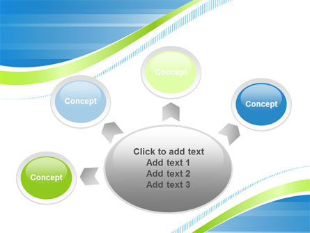 Green Wave Dissecans Blue-White Image Diagonal PowerPoint Template Slide 7