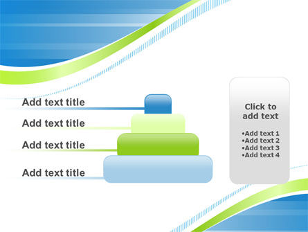 Green Wave Dissecans Blue-White Image Diagonal PowerPoint Template Slide 8