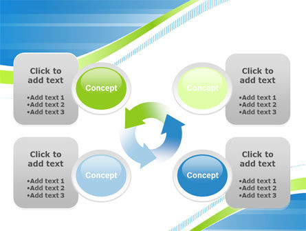 Green Wave Dissecans Blue-White Image Diagonal PowerPoint Template Slide 9