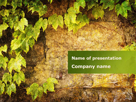 Wall Overgrown With Vines PowerPoint Template, 09792, Nature & Environment — PoweredTemplate.com