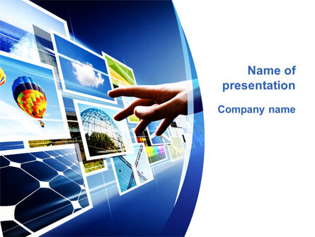 Photo On Interactive Monitor PowerPoint Template, 09793, Technology and Science — PoweredTemplate.com