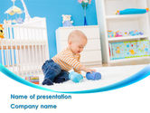 People: Baby Playing Home PowerPoint Template #09796