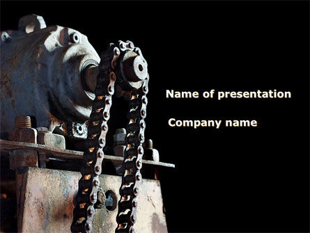 Chain Transmission PowerPoint Template, 09798, Careers/Industry — PoweredTemplate.com