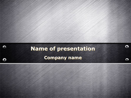 Steel Plate PowerPoint Template, 09801, Abstract/Textures — PoweredTemplate.com