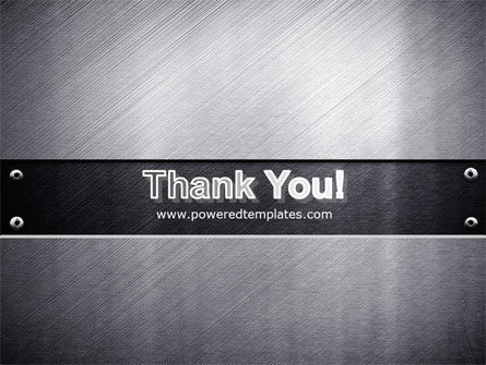 Steel Plate PowerPoint Template Slide 20