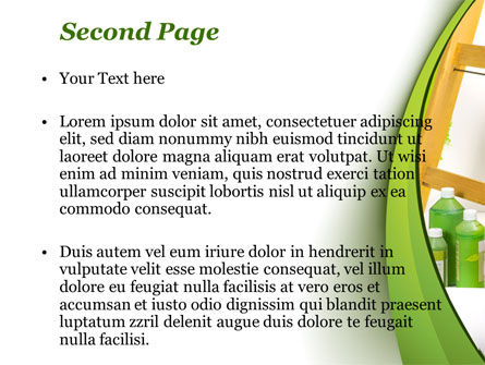 Green Paint Cun PowerPoint Template Slide 2