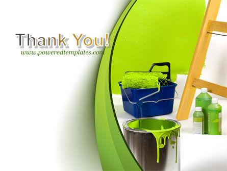 Green Paint Cun PowerPoint Template Slide 20