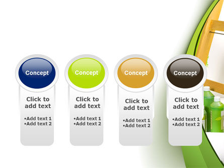 Green Paint Cun PowerPoint Template Slide 5