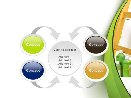 Green Paint Cun PowerPoint Template Slide 6