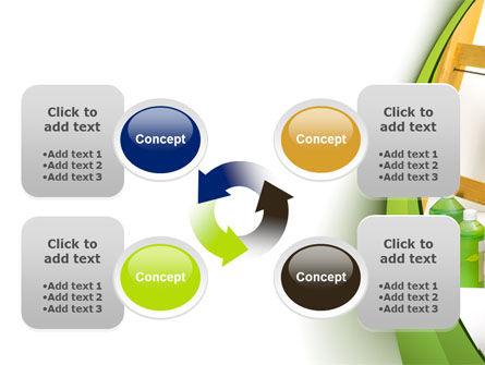 Green Paint Cun PowerPoint Template Slide 9