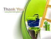Green Paint Cun PowerPoint Template#20