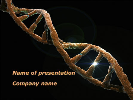 Defective Gene PowerPoint Template, 09803, Medical — PoweredTemplate.com