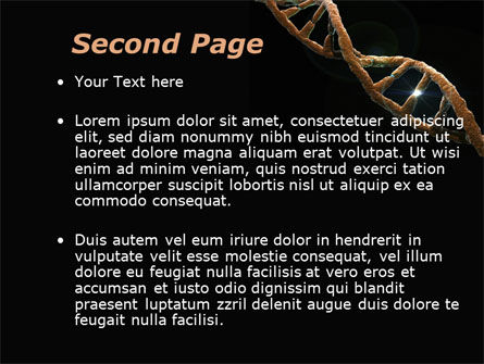 Defective Gene PowerPoint Template, Slide 2, 09803, Medical — PoweredTemplate.com