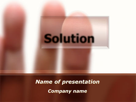 Consulting: Solution Button PowerPoint Template #09806