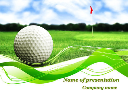 Sports: Ball For Golf PowerPoint Template #09807