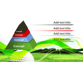 Ball For Golf PowerPoint Template#12