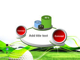 Ball For Golf PowerPoint Template#16