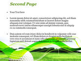 Ball For Golf PowerPoint Template#2