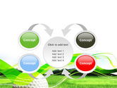 Ball For Golf PowerPoint Template#6