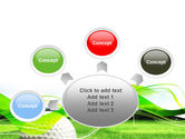 Ball For Golf PowerPoint Template#7