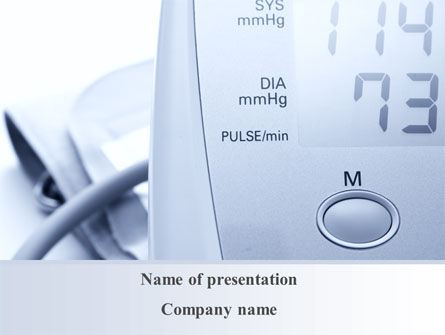Medical: Device For Measuring Pressure PowerPoint Template #09808