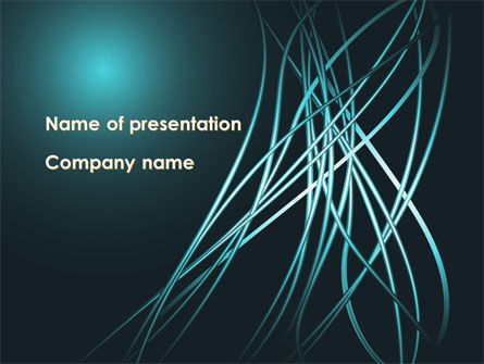 Telecommunication: Blue Tentacles PowerPoint Template #09809