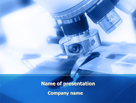 Technology and Science: Objective Slide Of Microscope PowerPoint Template #09810