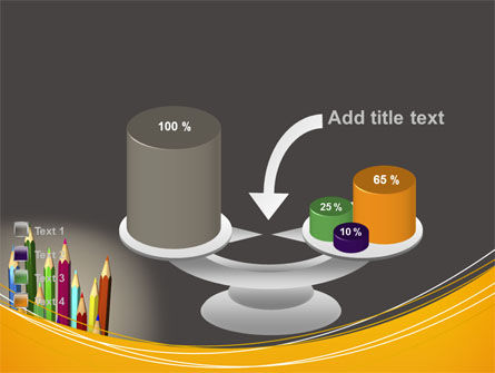 Colored Pencils PowerPoint Template Slide 10