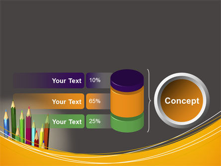 Colored Pencils PowerPoint Template Slide 11