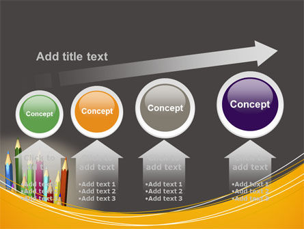 Colored Pencils PowerPoint Template Slide 13