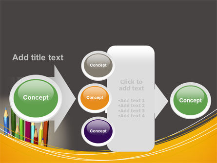 Colored Pencils PowerPoint Template Slide 17