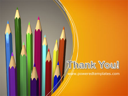 Colored Pencils PowerPoint Template Slide 20