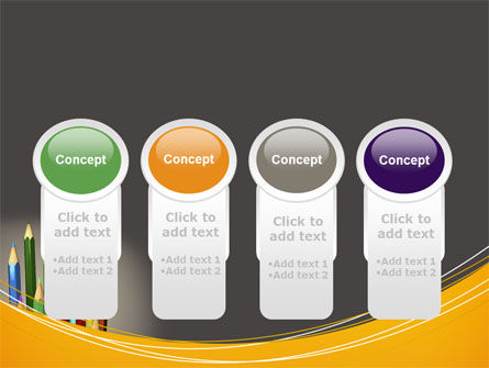 Colored Pencils PowerPoint Template Slide 5