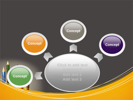 Colored Pencils PowerPoint Template Slide 7