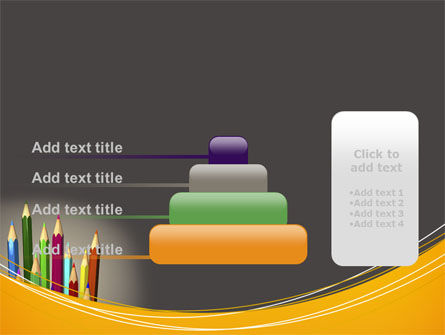 Colored Pencils PowerPoint Template Slide 8