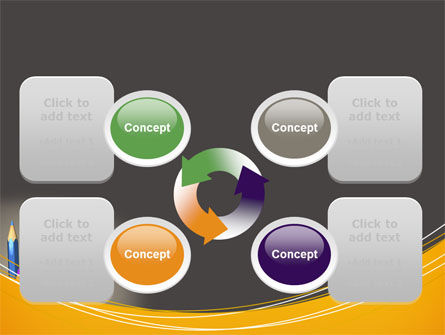 Colored Pencils PowerPoint Template Slide 9