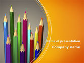 Education & Training: Colored Pencils PowerPoint Template #09811