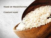Food & Beverage: Templat PowerPoint Nasi Oblong #09814